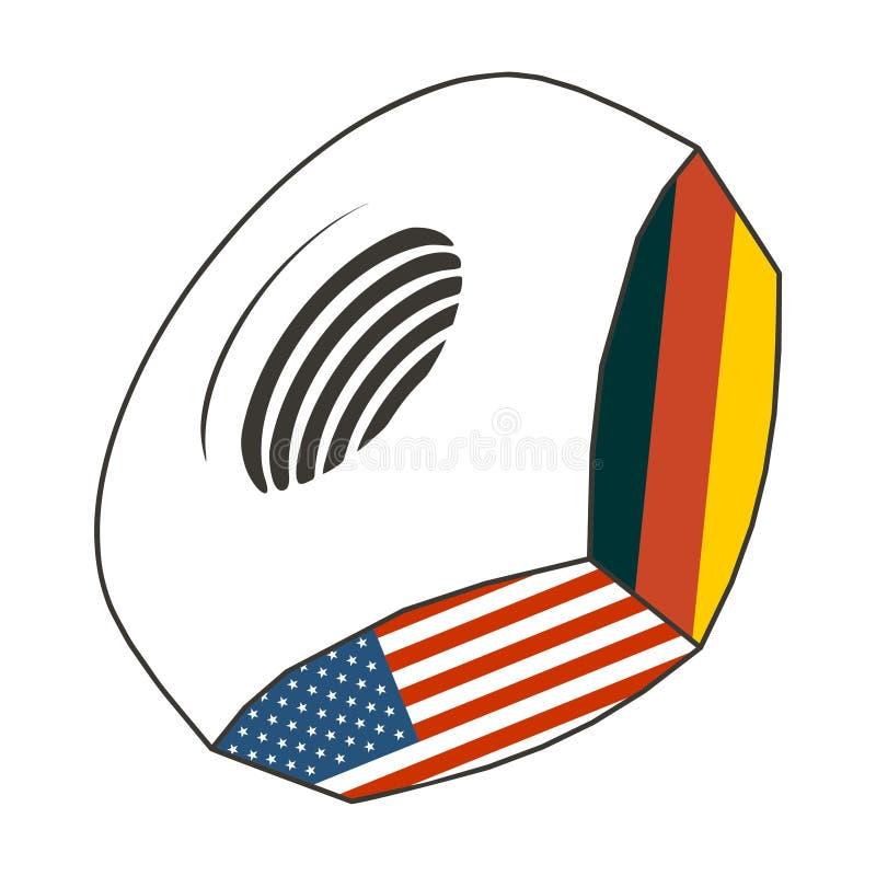 Noot met vlaggen stock illustratie