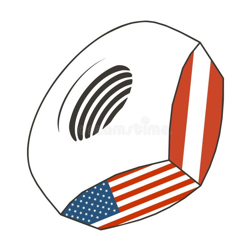 Noot met vlaggen vector illustratie