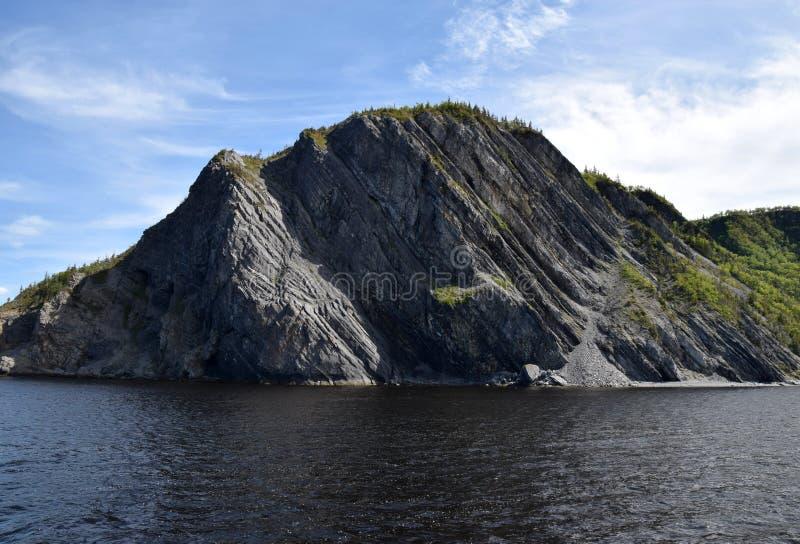 Noppen-Felsen in der Bonne-Bucht, Grosd Morne stockbild