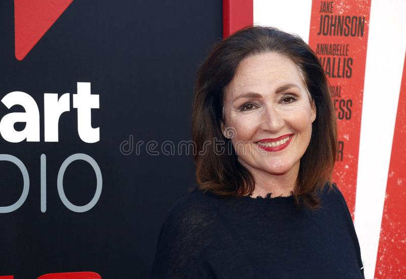 Nora Dunn. At the Los Angeles premiere of `Tag` held at the Regency Village Theatre in Westwood, USA on June 7, 2018 royalty free stock photography