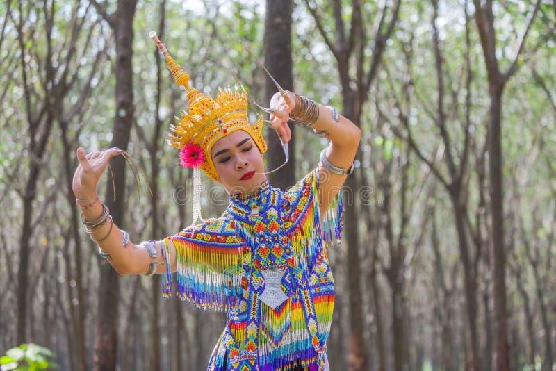 Nora jest klasycznym ludem dzielnicowym tanem Tajlandia i zdjęcie stock