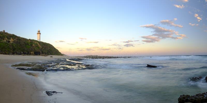 Norah Head Light House na costa central, NSW, Austr?lia imagem de stock