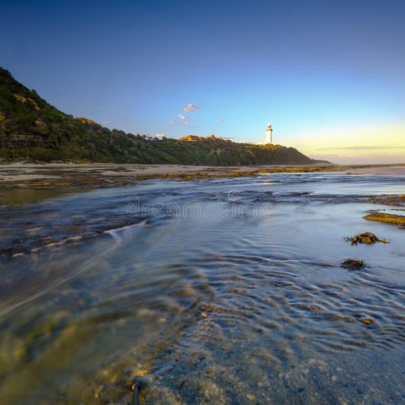 Norah Head Light House op de Centrale Kust, NSW, Australi? royalty-vrije stock foto