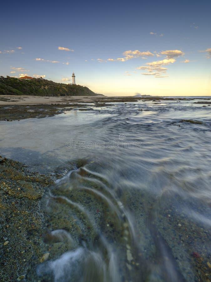 Norah Head Light House på den centrala kusten, NSW, Australien royaltyfri bild