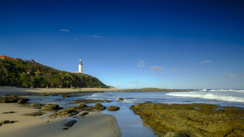 Norah Head Light House p? den centrala kusten, NSW, Australien fotografering för bildbyråer