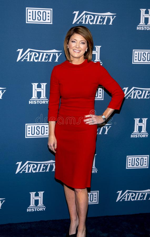 Norah O`Donnell at 3rd Annual Variety Salute to Service stock images