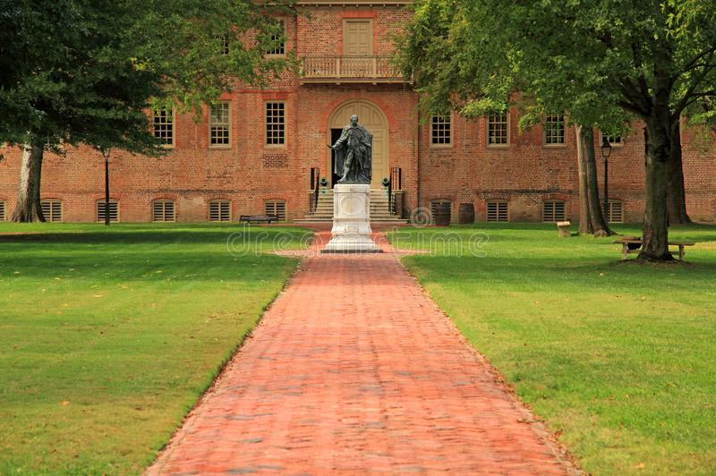 Norborne Berkeley, Baron de Botetourt Monument stock image