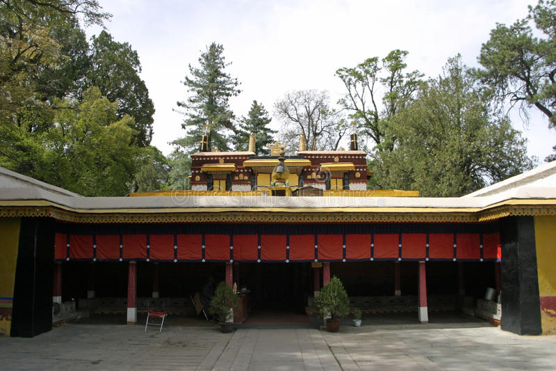 Norbulingka in Lhasa, Tibet royalty-vrije stock fotografie