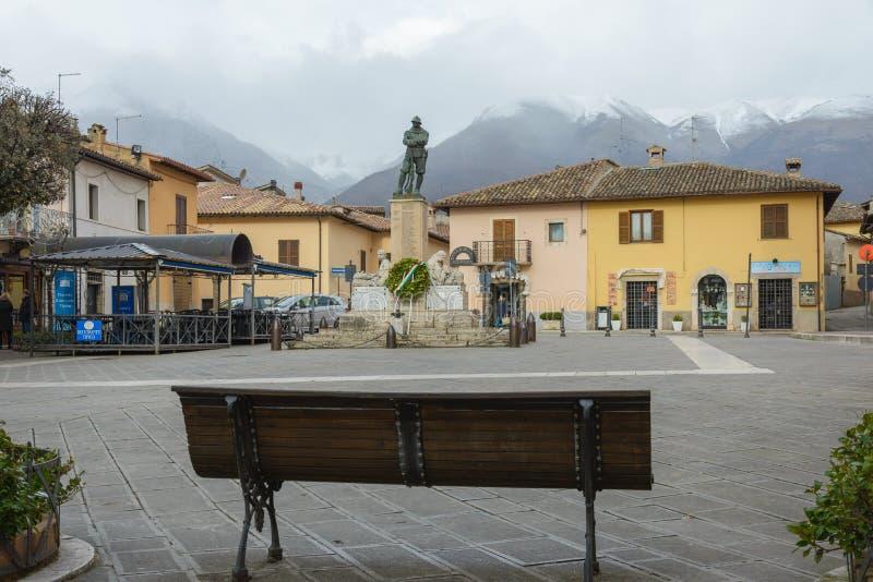Norcia en Umbría Italia imagenes de archivo