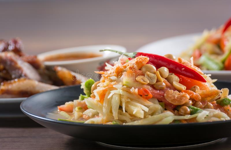 Nordöstra thailändska recept arkivfoto