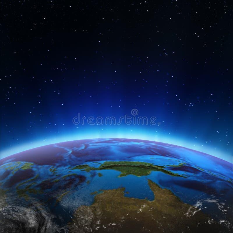 Nord-Australien und Ozeanien vektor abbildung