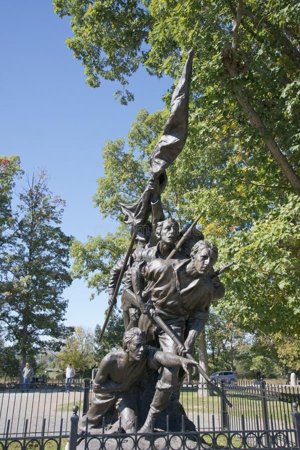 Nord-Carolina State Monument auf dem Getysburg Batttlefield stockfotos