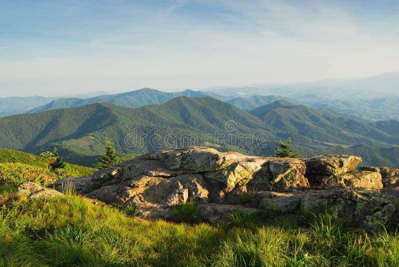 Nord-Carolinagebirgsszenische Landschaft stockfotos