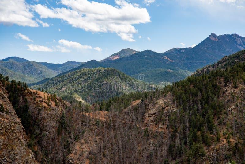 Nord-Cheyenne-Schluchtkanon Colorado Springs stockbild