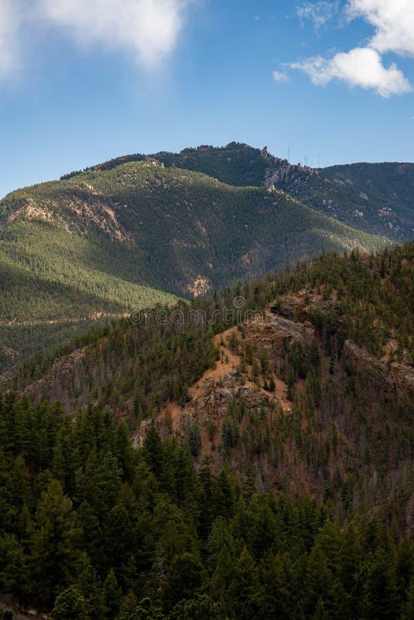 Nord-Cheyenne-Schluchtkanon Colorado Springs stockfotos