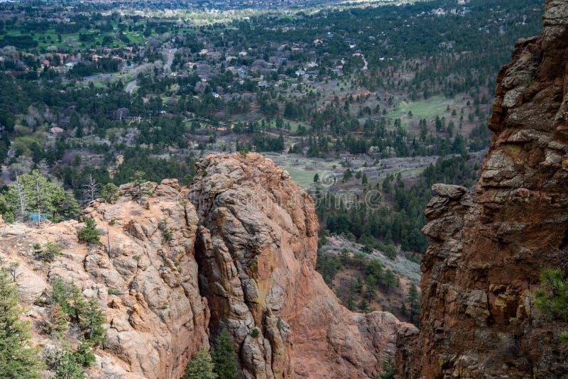 Nord-Cheyenne-Schluchtkanon Colorado Springs lizenzfreie stockfotos