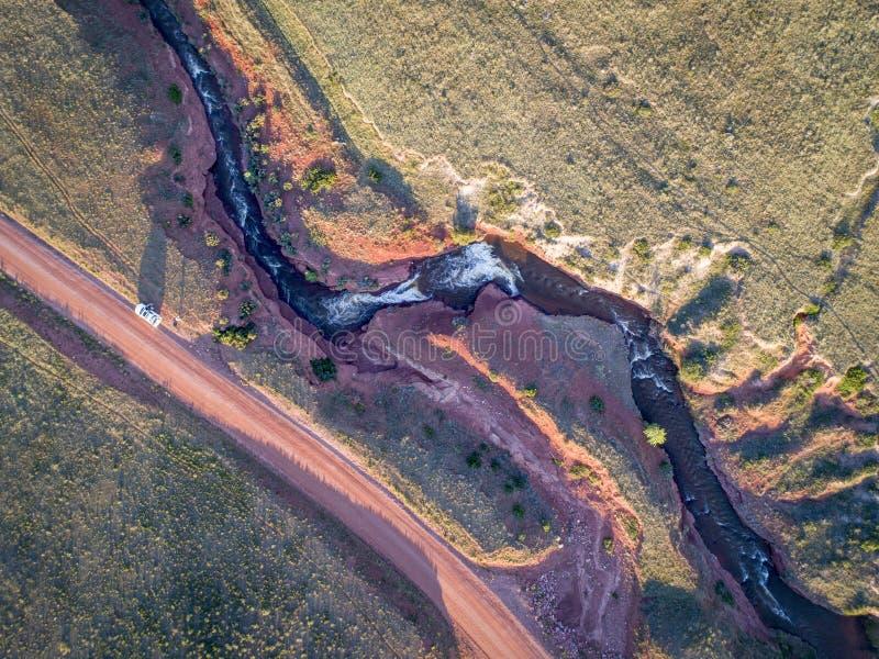 Download Nord-Colorado-Vorbergvogelperspektive Stockbild - Bild von gulch, schroff: 96928123