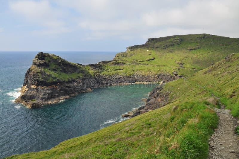 Nord-Cornwall-Atlantikküstelandschaft, England, stockbilder