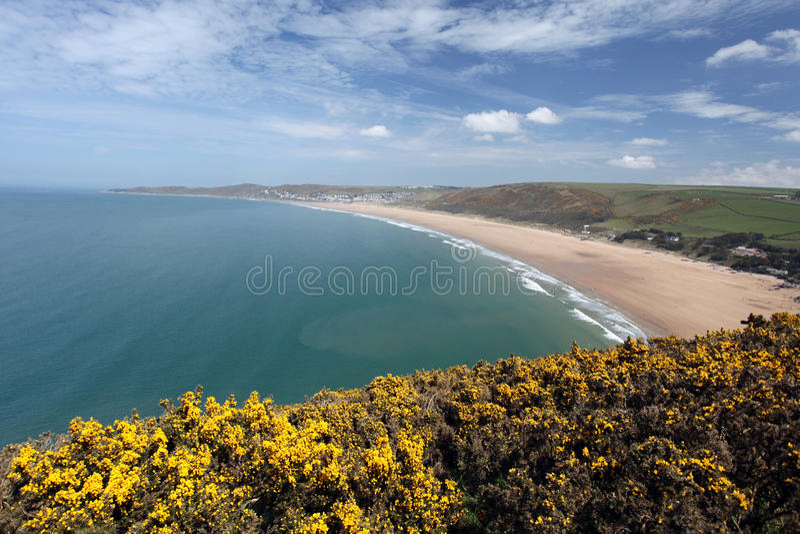 Nord-Devon Küste Woolacombe lizenzfreie stockfotos