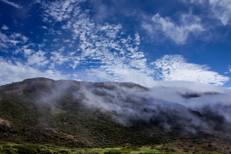 Nord-Kalifornien-Landschaft Marin Headlands, Golden Gate-Staatsangehörig-Erholungsgebiet lizenzfreie stockbilder