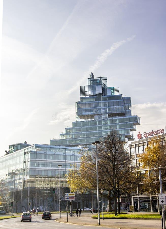 Nord-/LBgebäude, Hannover, Deutschland lizenzfreies stockfoto