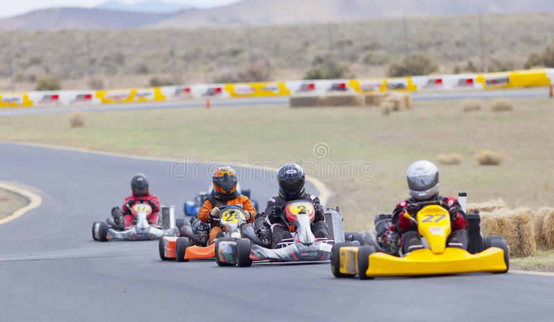 Nord-Nevada Kart Club Racing lizenzfreies stockbild