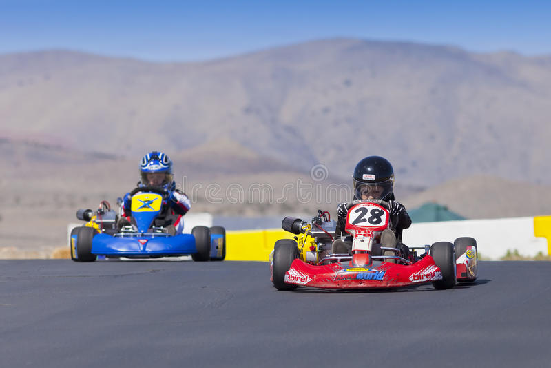 Nord-Nevada Kids Kart Club Racing lizenzfreies stockbild
