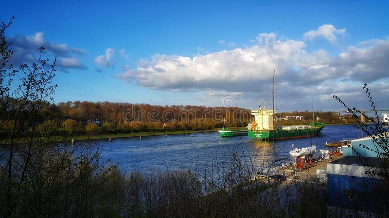 Nord-ostsee Kanal photographie stock libre de droits