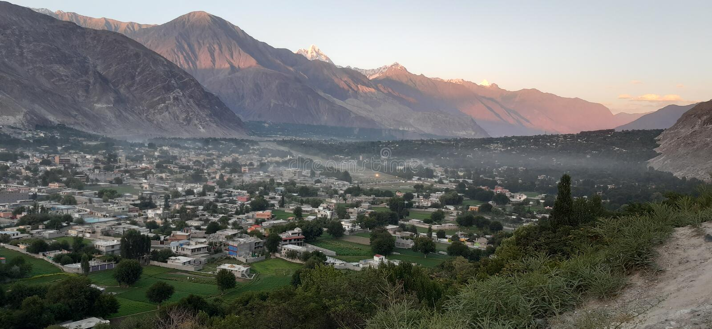 Nord-Pakistan-Stadt Gilgit lizenzfreie stockfotografie