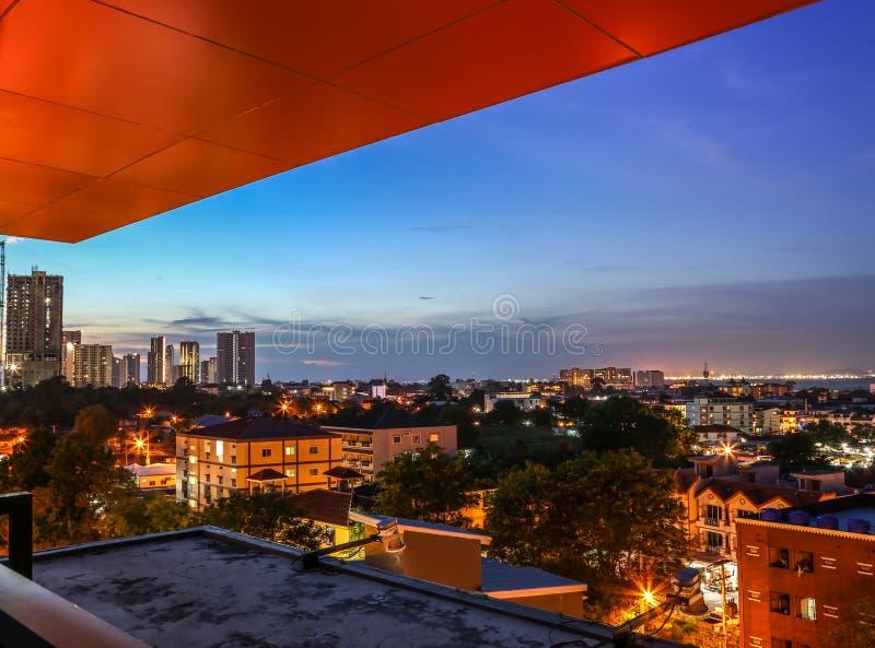 Nord-Pattaya-Nachtansicht stockfoto