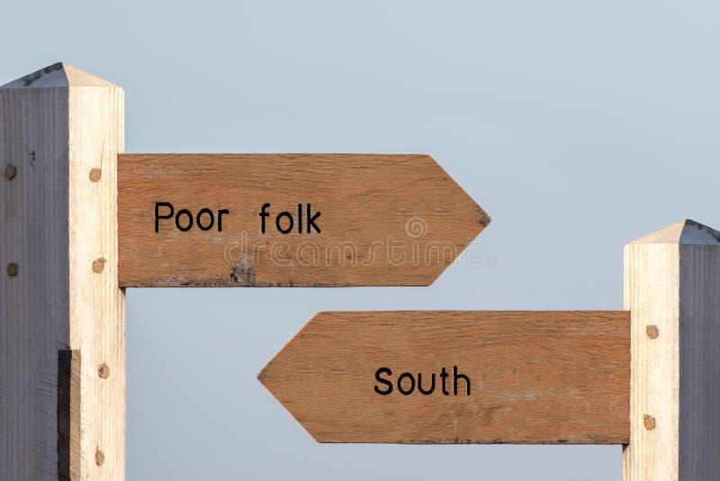 Nord-söder skiljelinje Ekonomisk uppdelning mellan norden och Souten royaltyfri bild