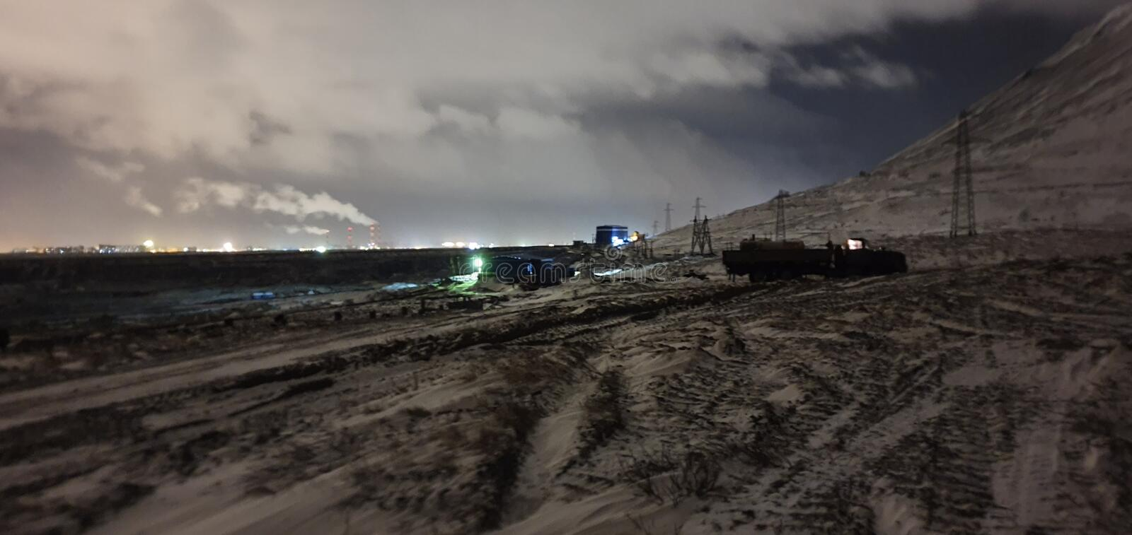 Nord. Sever, night stock photography