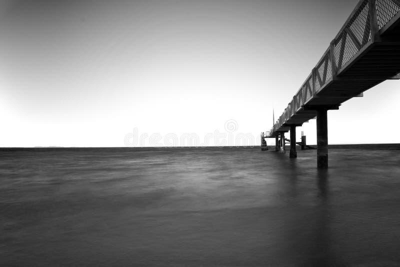 Nord-Stradbroke-Insel-Australien-Anlegestelle lizenzfreie stockbilder