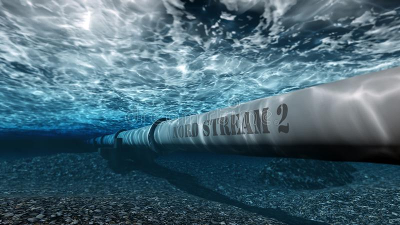 Nord stream 2 royalty free illustration