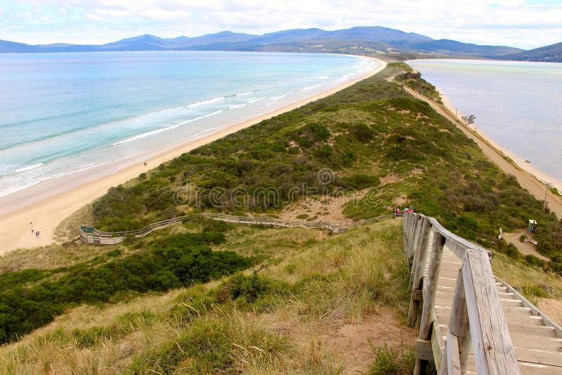 Nord und Süd Bruny-Inseln in Tasmanien lizenzfreie stockbilder