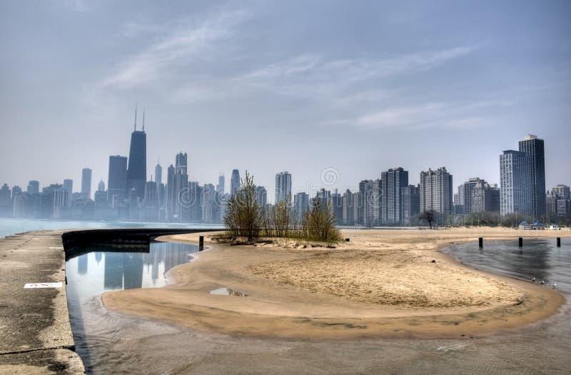 Nordalleen-Strand in Chicago stockfotografie