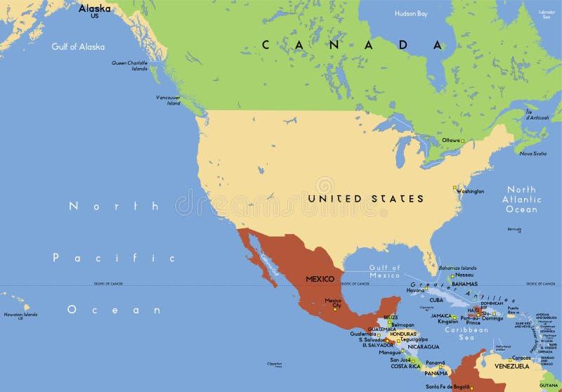 Nordamerika. lizenzfreie abbildung