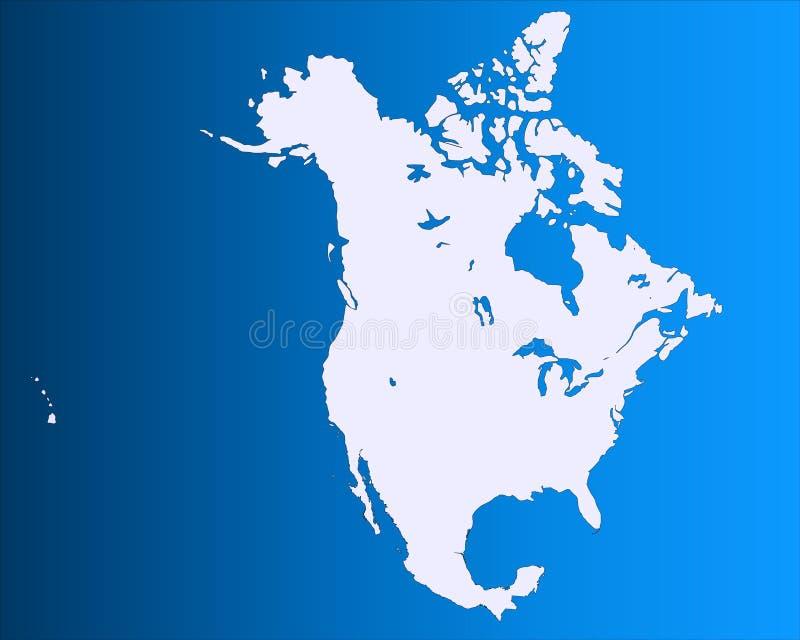 Nordamerika-Karte lizenzfreie abbildung