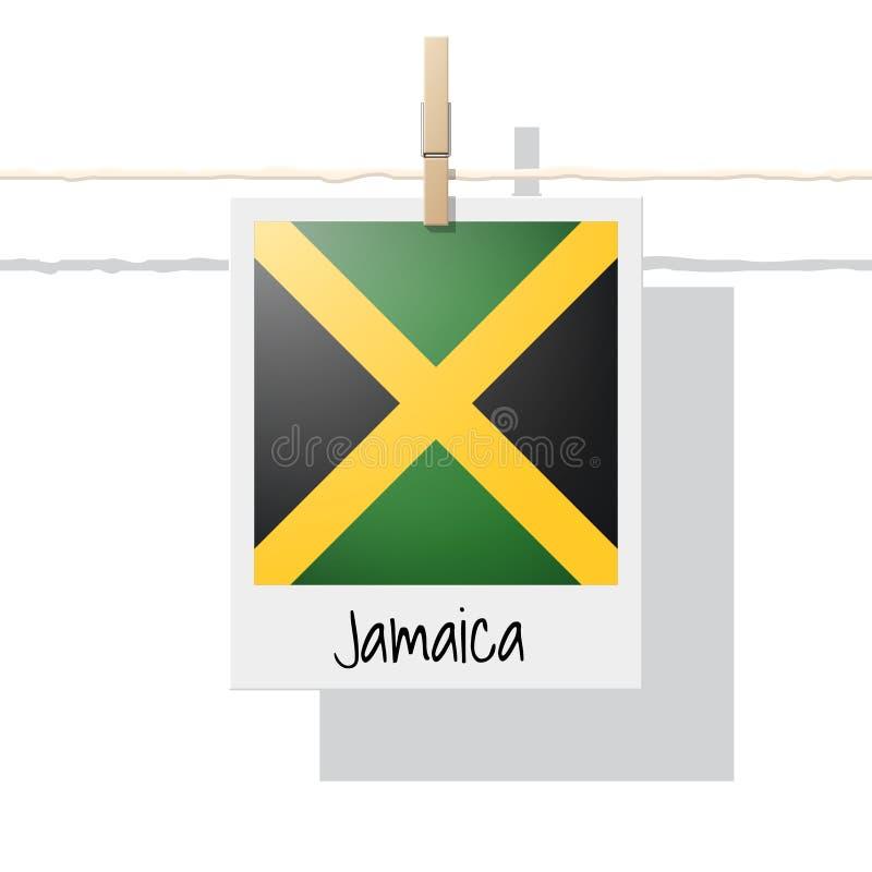 Nordamerika-Kontinentflaggensammlung mit Foto von Jamaika-Flagge stock abbildung