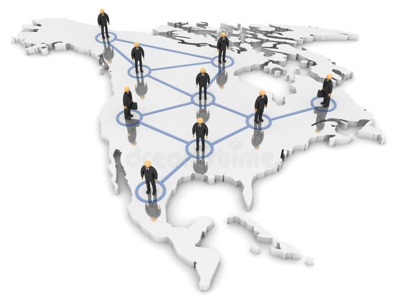 Nordamerika-Netz stock abbildung