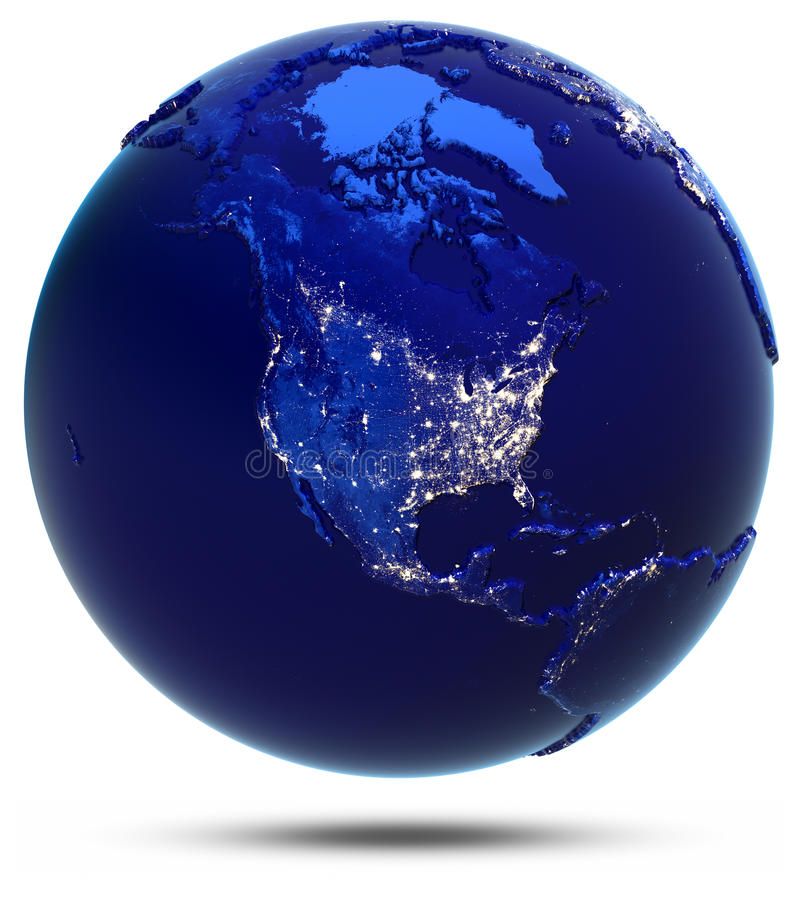 Nordamerika-Stadtlichter stock abbildung