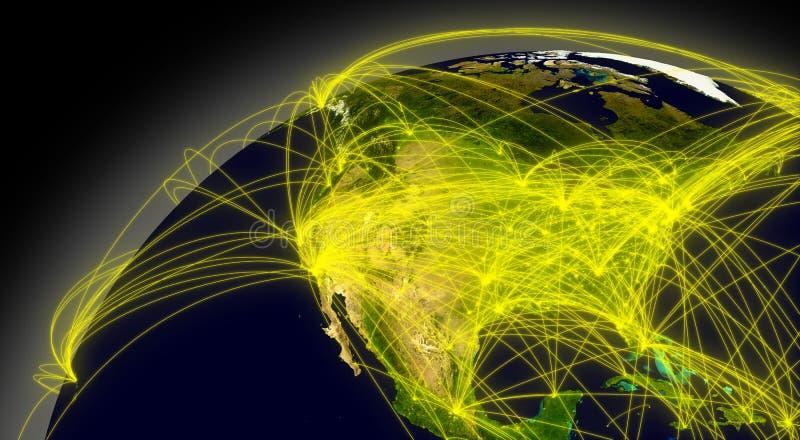 Nordamerika-Verbindungen lizenzfreie abbildung