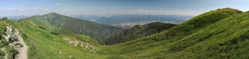 Nordansicht von Maly Krivan-Berg in Mala Fatra-Bergen stockfotografie
