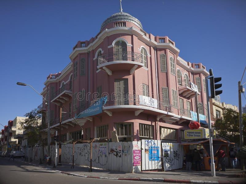 Nordau hotell på Nahalat Binyamin Israel arkivfoto