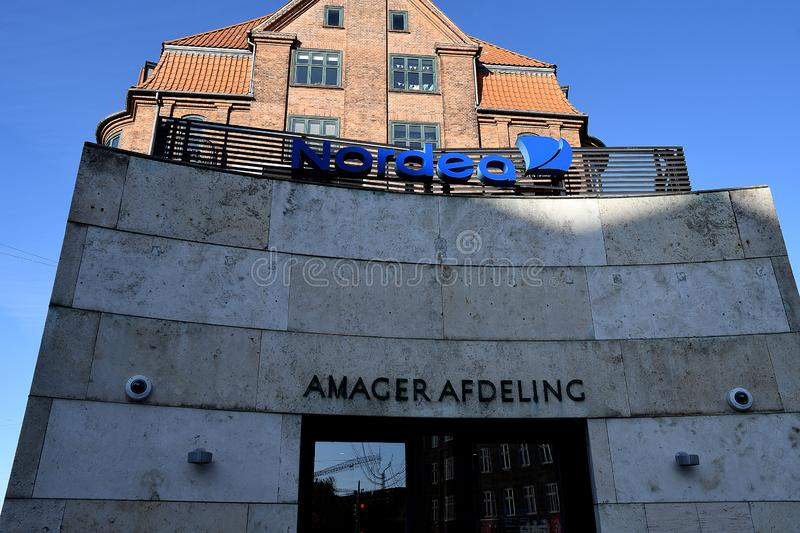 NORDEA BANK BRANCH IN COPENHAGEN DENMARK. Copenhagen /Denmark/ 30. October 2019/ Nordea bank branch in danish capital Copenhagen, Denmark stock image