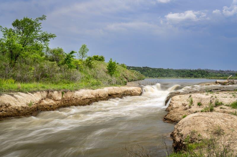 Norden-Rutsche auf Niobrara River, Nebraska stockbild