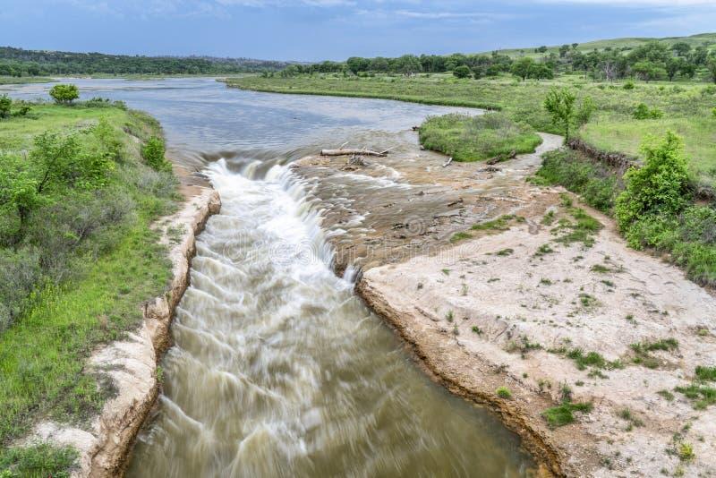 Norden-Rutsche auf Niobrara River, Nebraska lizenzfreies stockbild