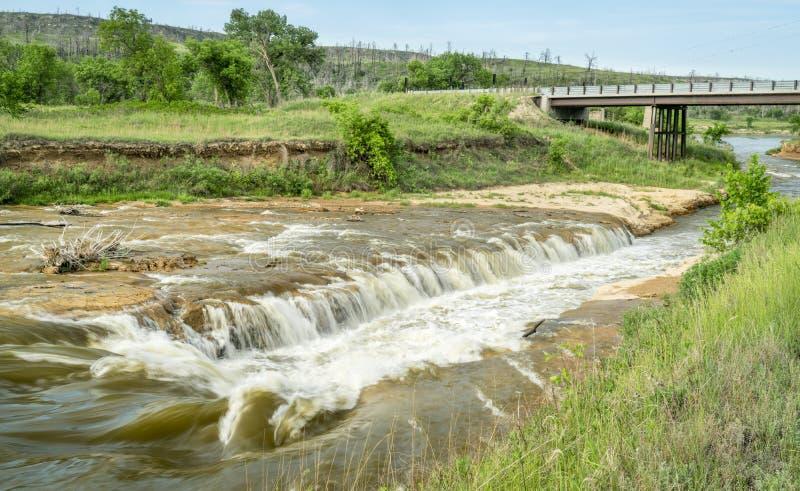 Norden-Rutsche auf Niobrara River, Nebraska lizenzfreie stockfotografie