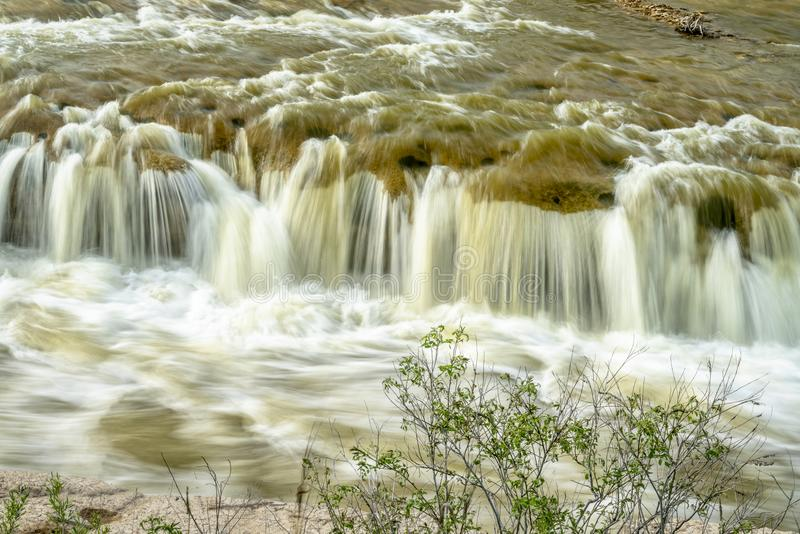 Norden-Rutsche auf Niobrara River, Nebraska stockbilder