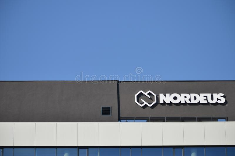 Nordeus logo i budynek obraz stock